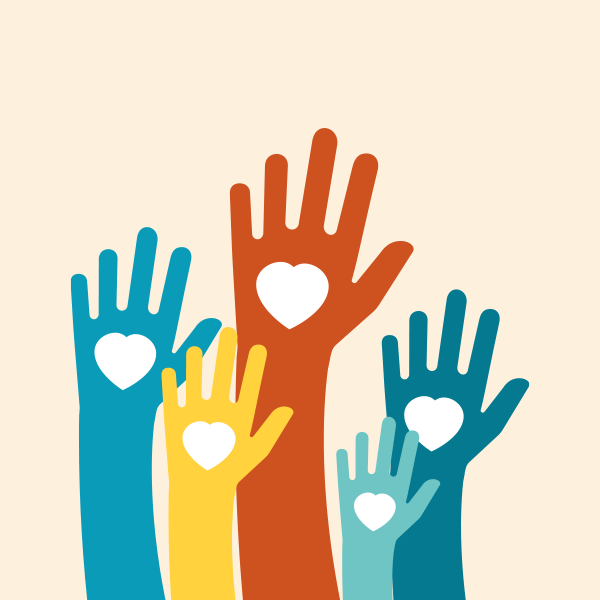 Hands Raising with heart in hand